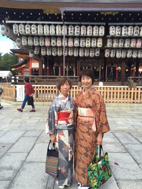 『友と京都で初着物』ケイコさん投稿;01